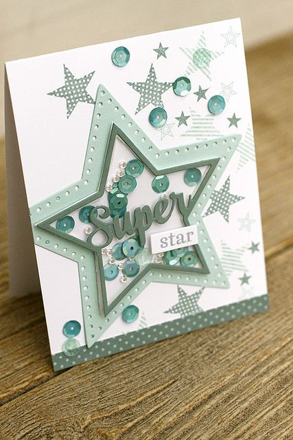 Super Star Card by Erin Lincoln for Papertrey Ink (November 2015)