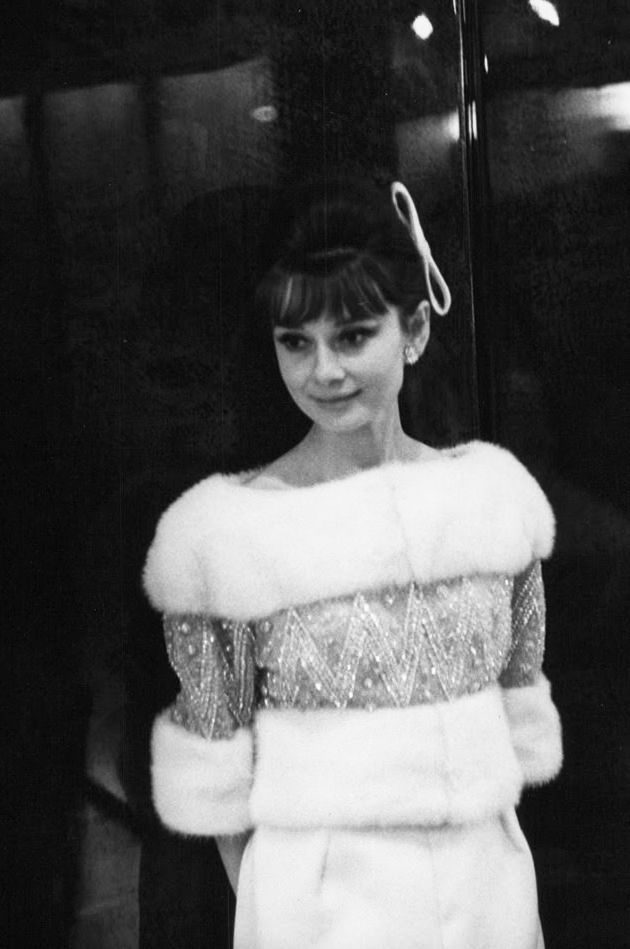 "Audrey Hepburn photographed during a raffle (in prol of Red Cross) at Le Bal des Petits Lits Blancs, aboard the new liner ""France"" in Le Havre (France), on January 14, 1962."