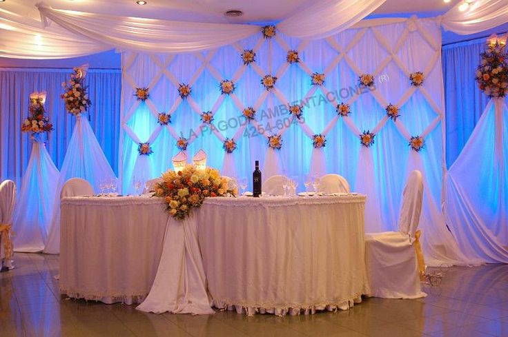 685 best images about receptions draping on pinterest - Decoracion de salones para fiestas ...