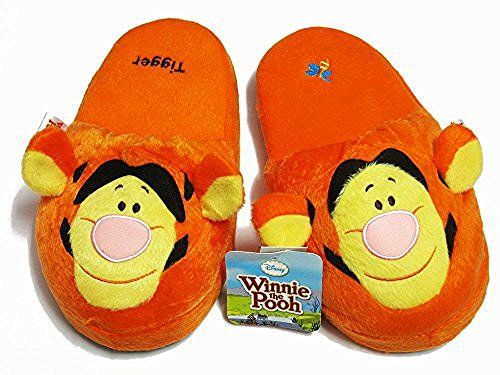 Tigger Orange Slippers One Size fits Most US Women's Size 5-9 #E