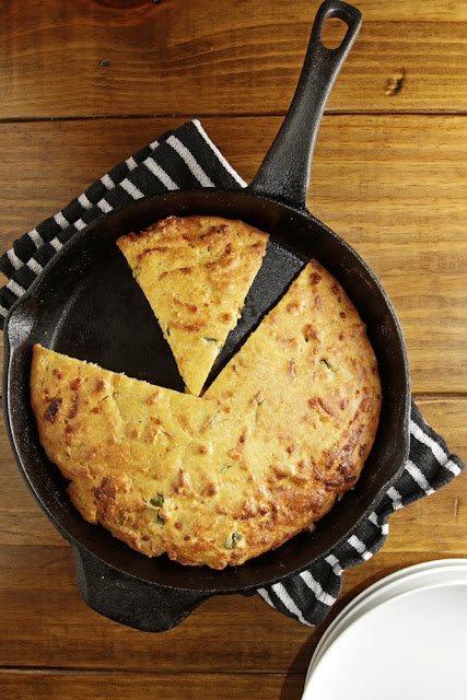 The smoked cheddar gives the cornbread an authentic quality that's missing in many bacon-grease-less cornbread recipes.