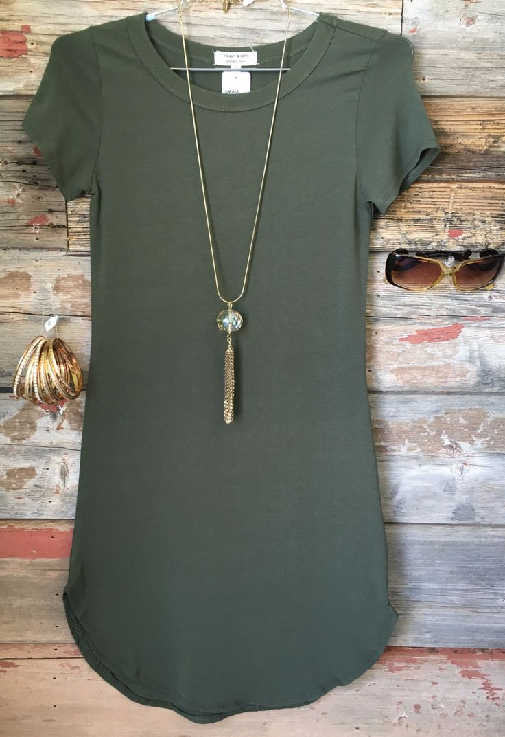 The Fun in the Sun Tunic Dress in Olive is comfy, fitted, and oh so fabulous! A…
