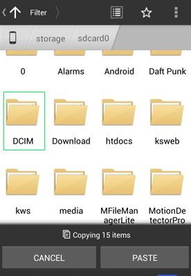 photos onto your Android's DCIM folder