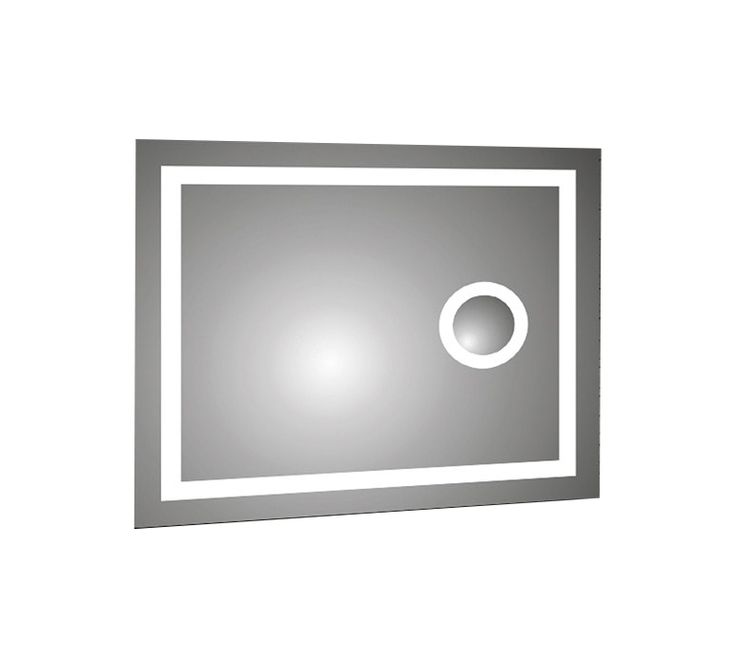 Backlit LED Mirror with IR Sensor and Magnifier