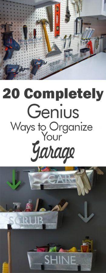 20 Completely Genius Ways to Organize Your Garage - 101 Days of Organization