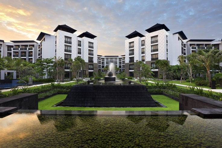 Clean lines with a local flair. Architecture & design by the Archetype Group - Pullman Bali Legian Nirwana - Indonesia