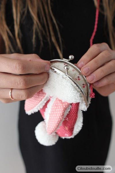 Fabriquer un porte-monnaie lapin | Ciloubidouille