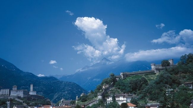 Bellinzona, capital of Ticino.