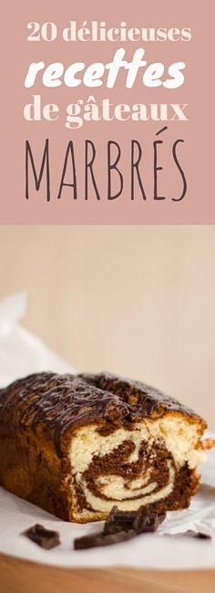 20 recettes faciles de gâteaux marbrés !
