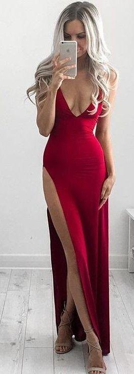 Cherry Split Gown                                                                             Source