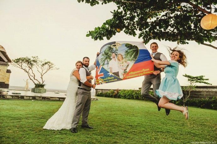 Russia + Australia wedding in Bali