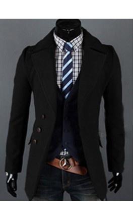 Modern Mens turndown coat