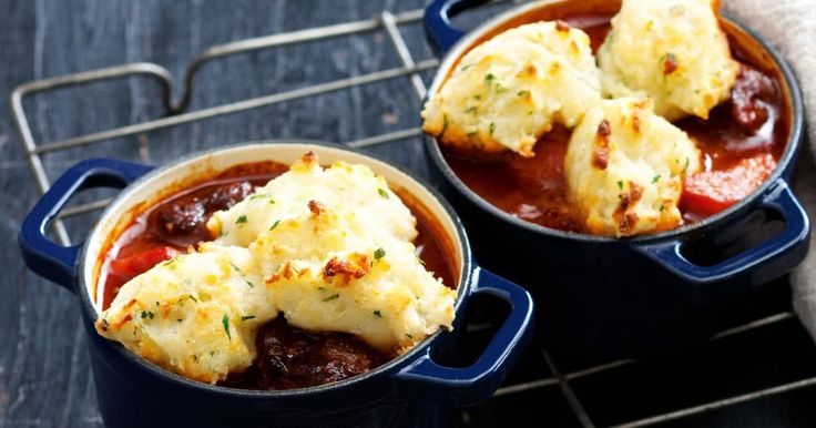 Melt-in-your-mouth beef topped with fluffy dumplings is perfect winter comfort food.