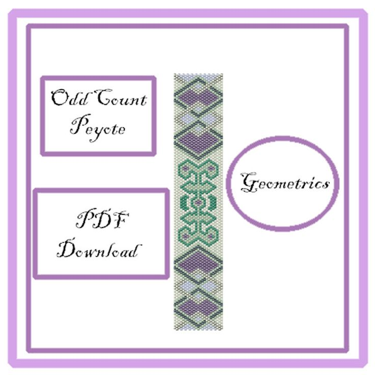 Peyote Pattern PDF Download di EsprimiUnDesiderio su Etsy