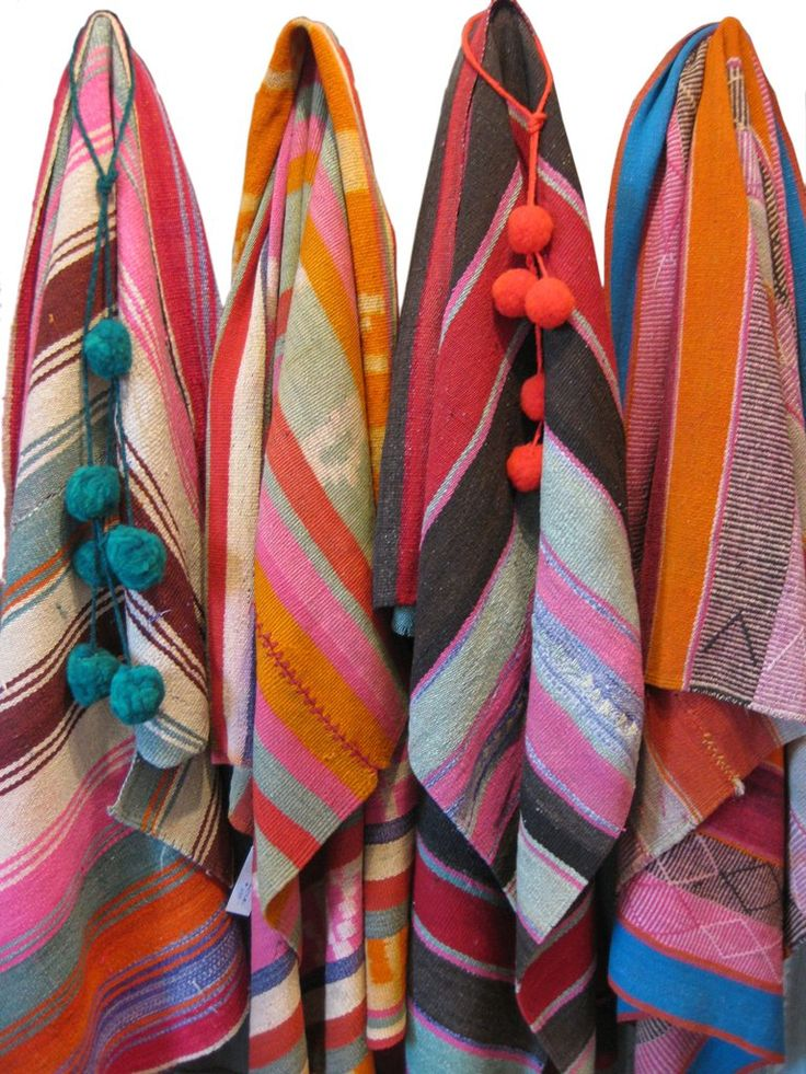 These one of a kind, hand-loomed, vegetable-dyed gently worn and faded pieces known as mantas, or aguayos, or frasadas.