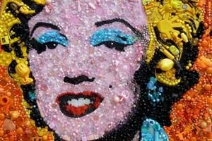 Famous artworks recreated with recycled materials