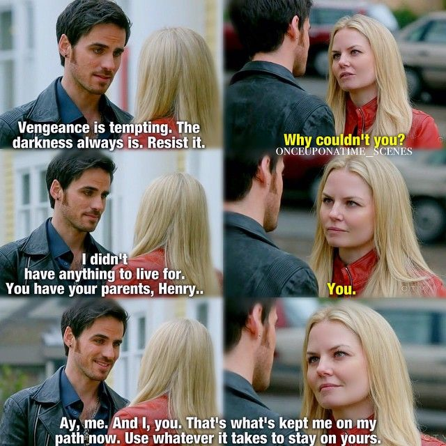 This is beautiful. Because befor this, he wasn't sure he was a reason for Emma to live, she's always had trouble expressing her feelings and he knows that, but when she said 'and you' he smiled because she said he was a reason to stay good. He didn't have to guess or assume, she reassured him. And that made him so happy