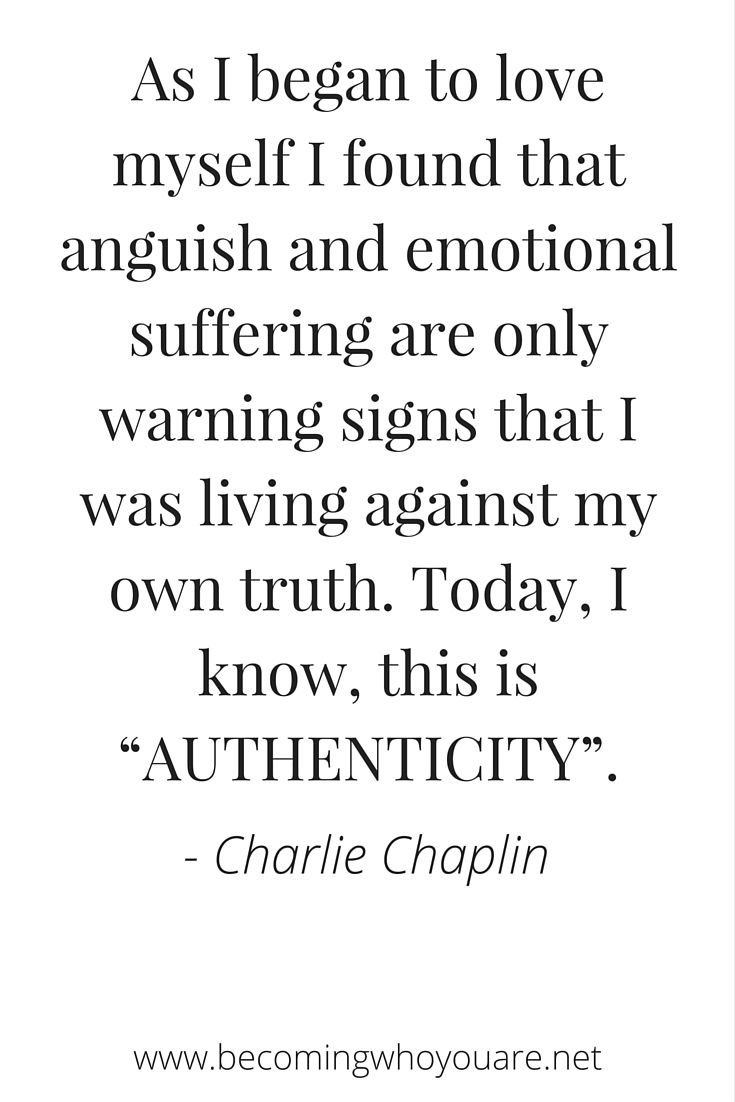 Click to read this inspiring poem by Charlie Chaplin on self-love, authenticity and respect >>> | www.becomingwhoyouare.net