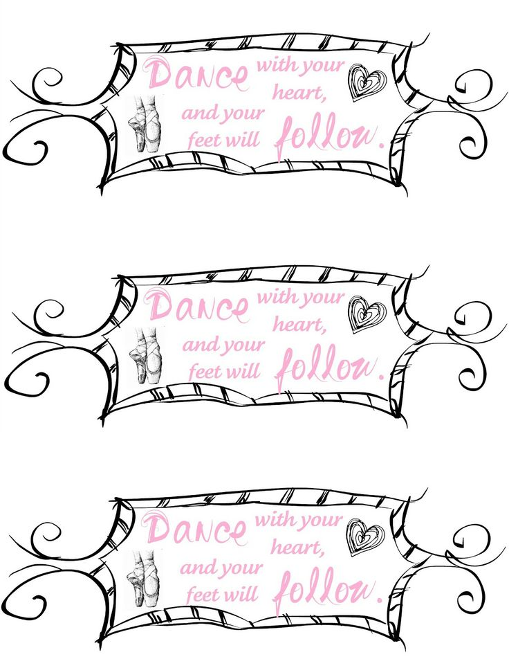 water bottle labels for ballet birthday party