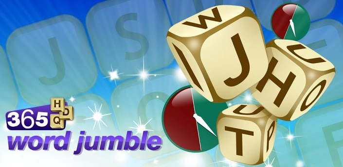 365 Word Jumble - Three addictive word teaser games in one! If you love word games then you're going to love 365 Word Jumble. Discover as many words as possible while maximising your score with the bonus letters but avoid 'jeopardy' in Word Finder. Can you beat the timer and solve the puzzle in Anagram Hunt. In Word Cube the challenge is to create as many words as possible in the 5x5 cube before submitting your score. This addictive word teaser pack will test your brain power to the max!