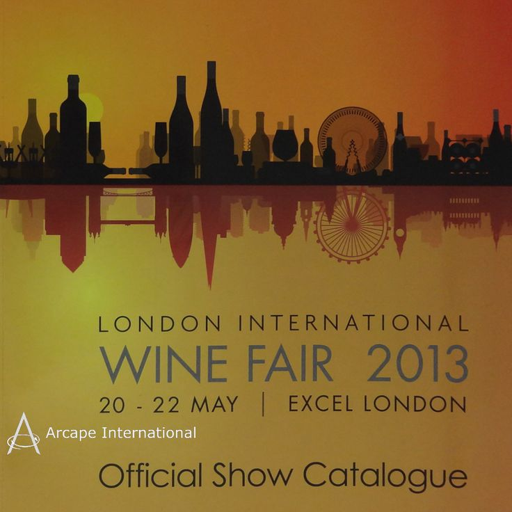 The Official Show Catalogue cover cleverly depicted the London skyline using of bottles, glasses, cork screws and wine racks.  The event took place on the 20th to 22nd May 2013 at the ExCel in London.