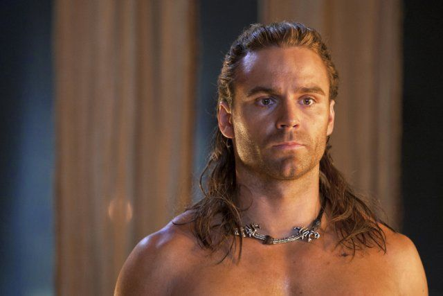 Aussie, Dustin Clare as Gannicus in Spartacus: Gods of the Arena.  A Warrior with an eye for the ladies and the vino, but deep down he is very protective of those he cares about and has a very sweet spirit.