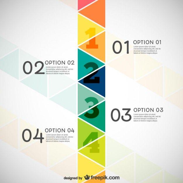 Infografía con triángulos Vector Gratis