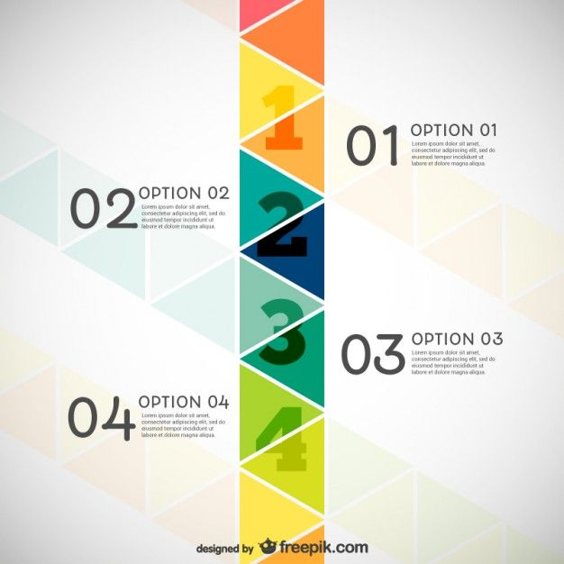 Infographie avec des triangles