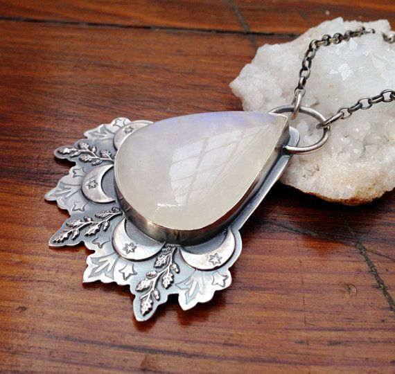 Hey, I found this really awesome Etsy listing at https://www.etsy.com/listing/249264277/moonflower-pendant-necklace-silver
