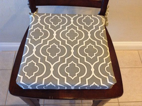 Gray Ironwork Print Seat Cushion Cover. Washable