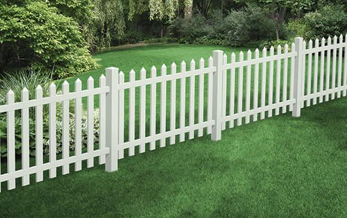 """48""""H x 72""""W Cape Cod Picket Fence Panel at Menards"""
