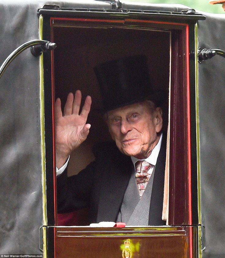 17 JUNE 2016   Prince Philip, who celebrated his 95th birthday last week waved cheerily to onlookers as h...