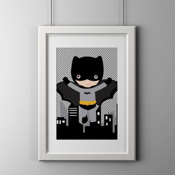 Hey, I found this really awesome Etsy listing at https://www.etsy.com/listing/198806607/batman-superhero-wall-art-print-shipped