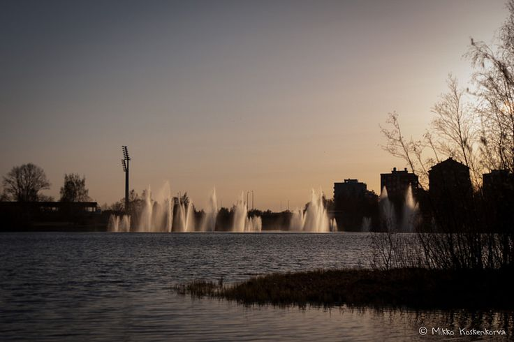 Fountains by Toivoniemi, Oulu, Finland