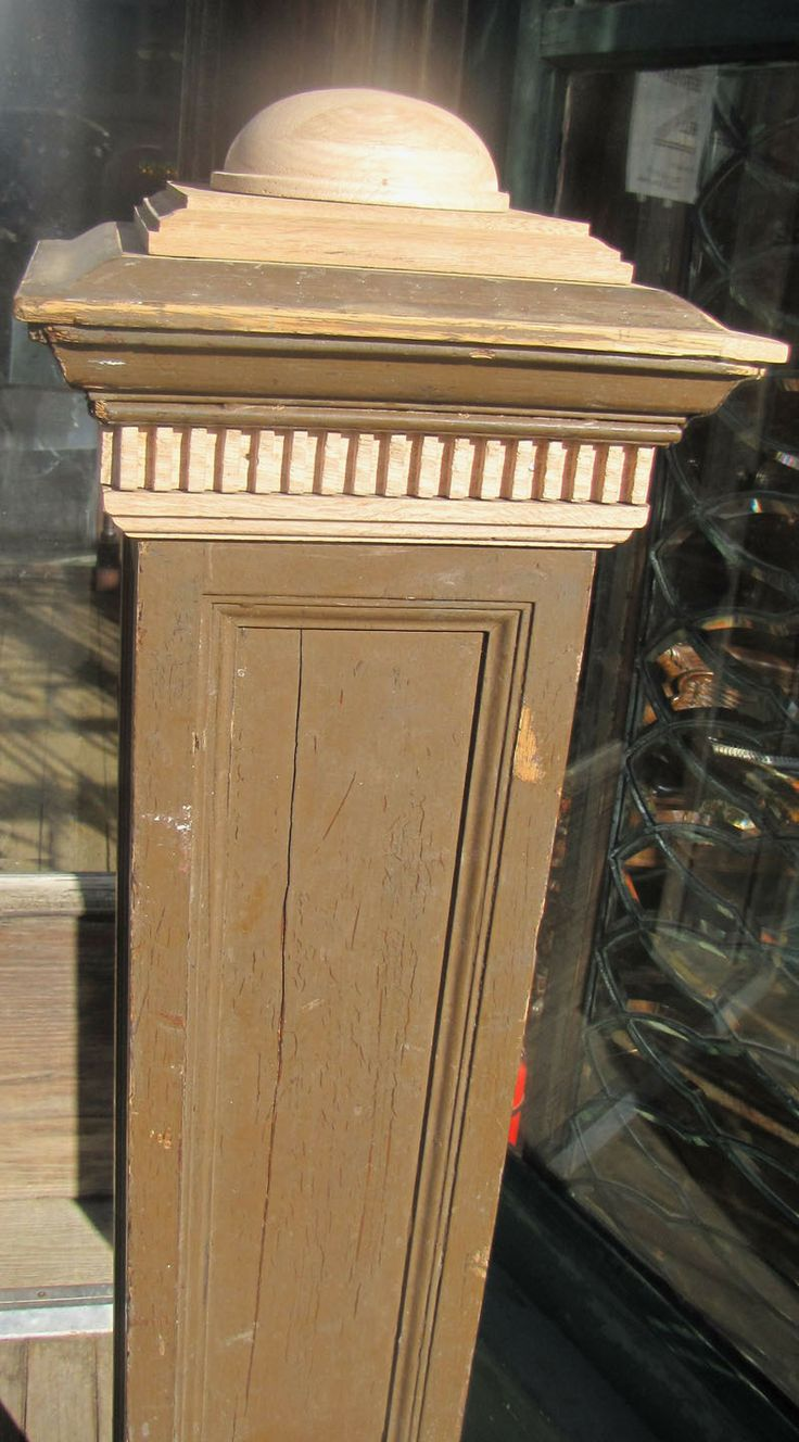 Newel post, top detail | Newel posts, Newell, Stairs