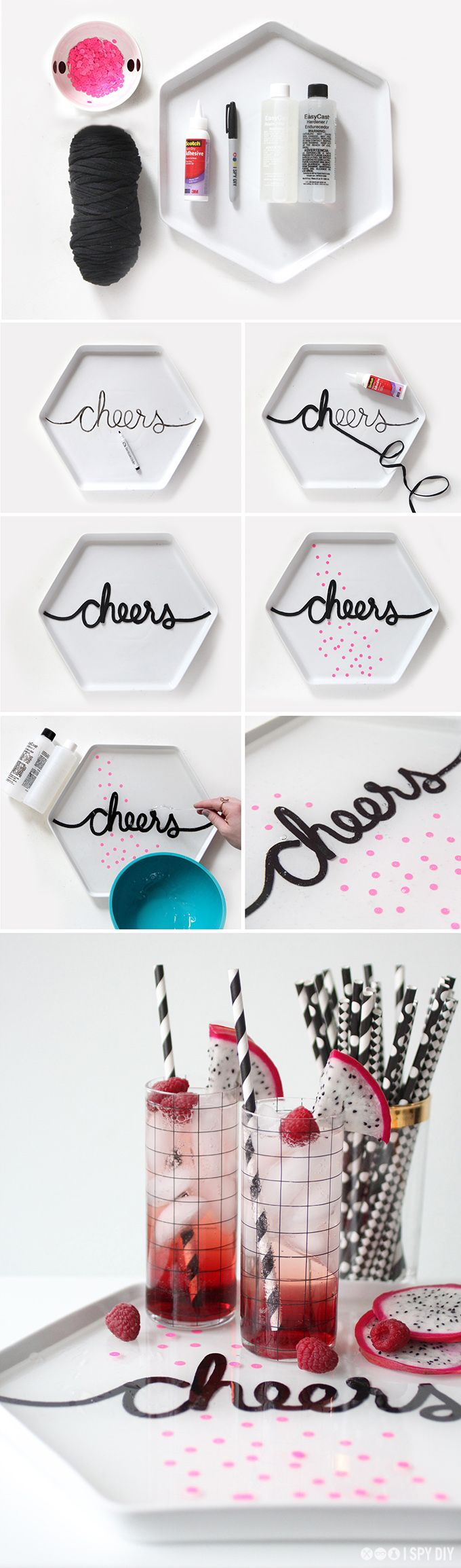 """How to make your own """"cheers"""" tray for a party"""