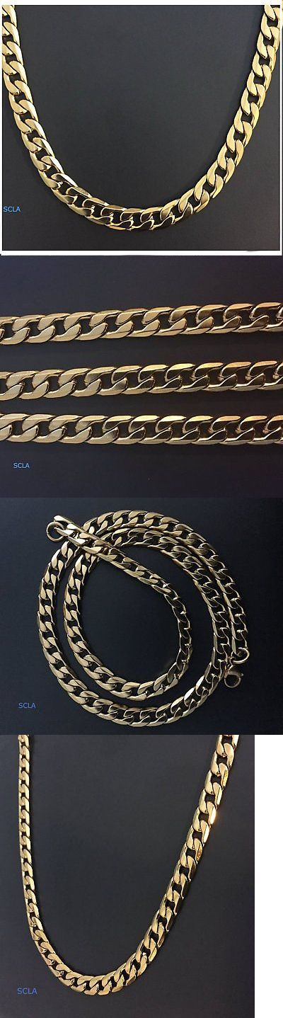 Chains Necklaces and Pendants 137839: Gold Chain Necklace 10Mm Smooth Cuban Curb Link 24K Real Gold Plated Life Time -> BUY IT NOW ONLY: $87.99 on eBay!