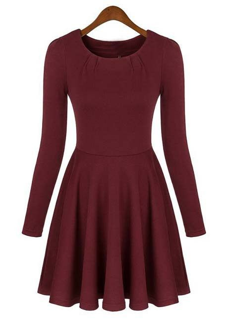 Don't miss out on this Long Sleeve Skater Dress. Only at #MyLulusCloset. $29.00 #Dresses