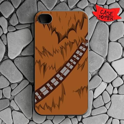 Brown Body Chewbacca Star Wars iPhone 4 iPhone 4S Black Case