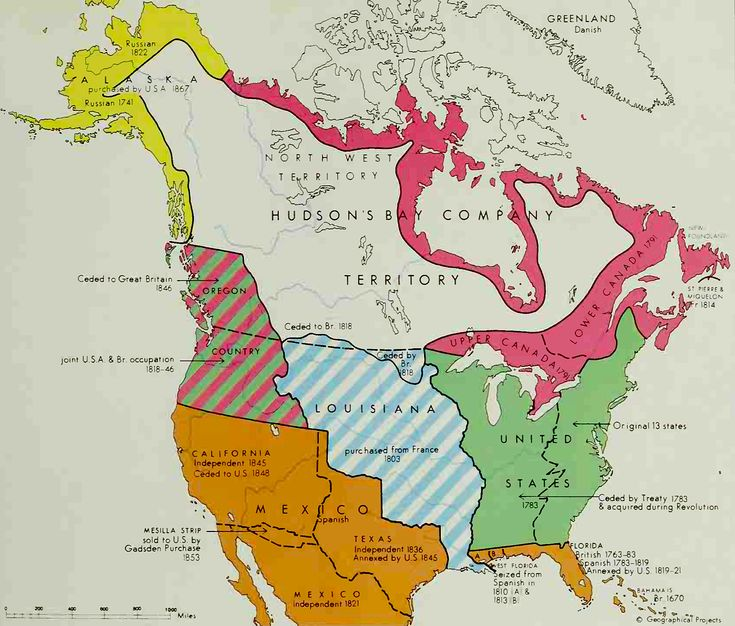 Map Of North America Territorial Possessions Age Of - 1819 map of us