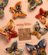 Farfalla piccola in terracotta, by Artefatto nel Salento