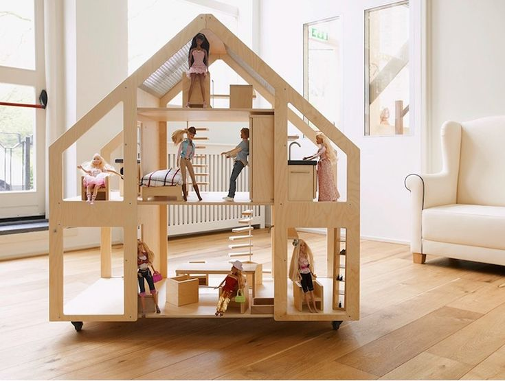 Liliane Dolls Villa is a luxurious modern dollhouse built at a child's height   Inhabitots