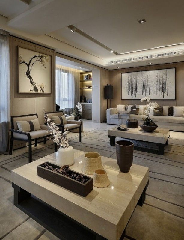 140 best asian interior living room images on for Residential living room interior design