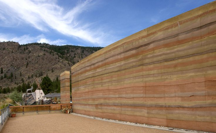 Another great shot of the nk'mip desert cultural centre SIREWALL - Our very first commercial project and still the longest insulated rammed earth wall in the world