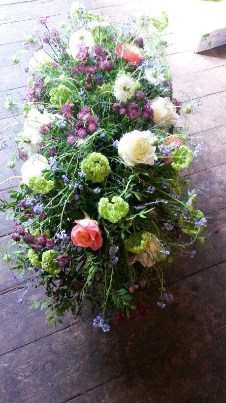 Meadows, wild flower style funeral spray - late spring flowers @aflorum