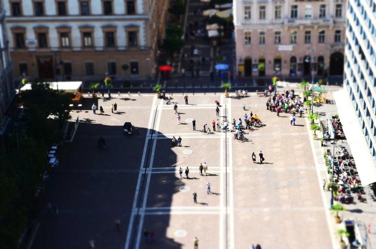 Budapest street fron St Stephen