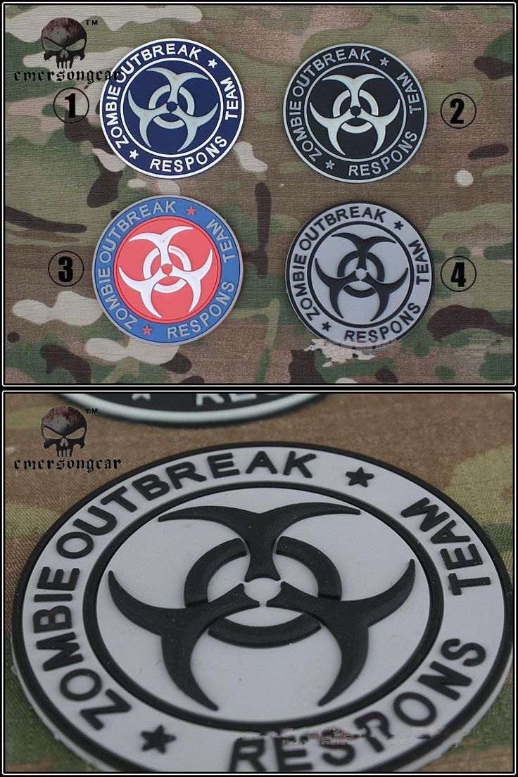 "[Visit to Buy] 1pcs New Hot Military Fans ""Zombie Outbreak"" Tactical Rubber Badge Patches Morale PVC Patch 4 Types #Advertisement"