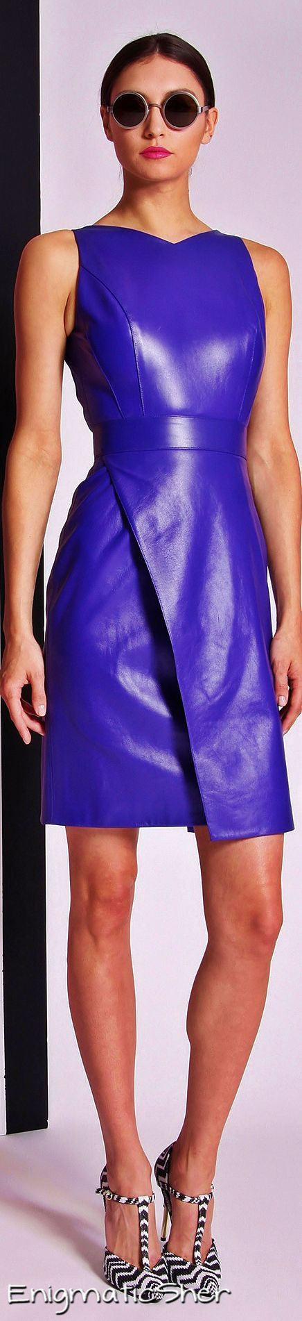 Christian Siriano Resort 2014 #Leather #Fashion http://www.waxhaws.com/