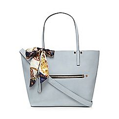 Light blue 'Exit' shopper bag