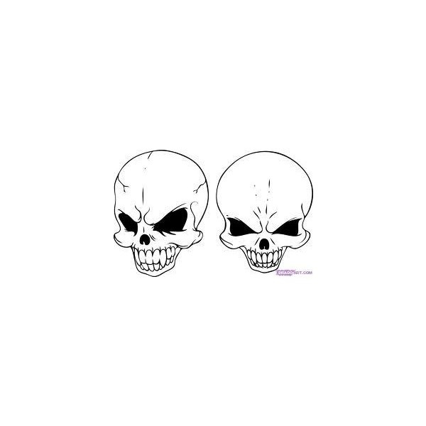 25 best ideas about simple skull drawing on pinterest
